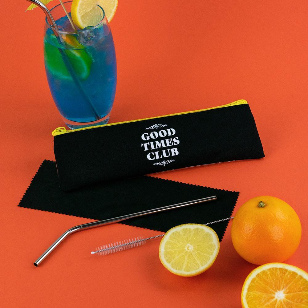 Good Times Club Straw Set