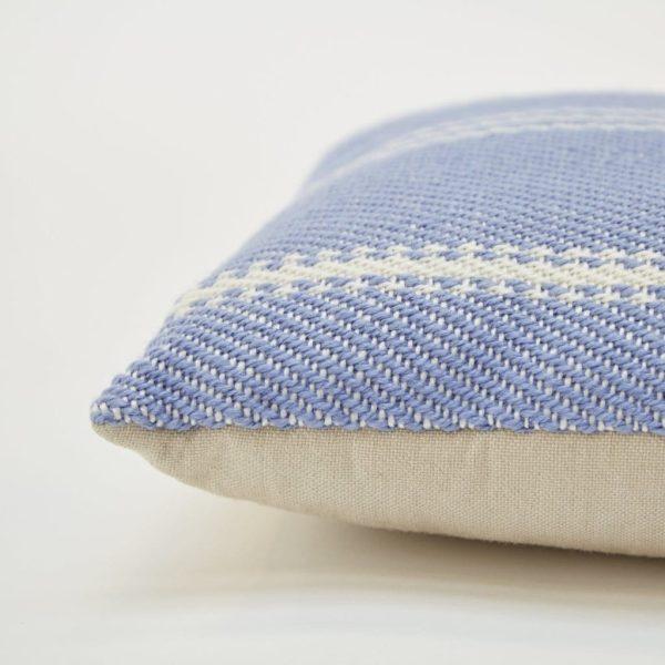 Lightweight Cobalt Oxford Stripe Cushion