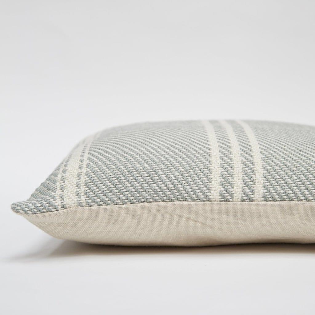 Lightweight Dove Grey Oxford Stripe Cushion