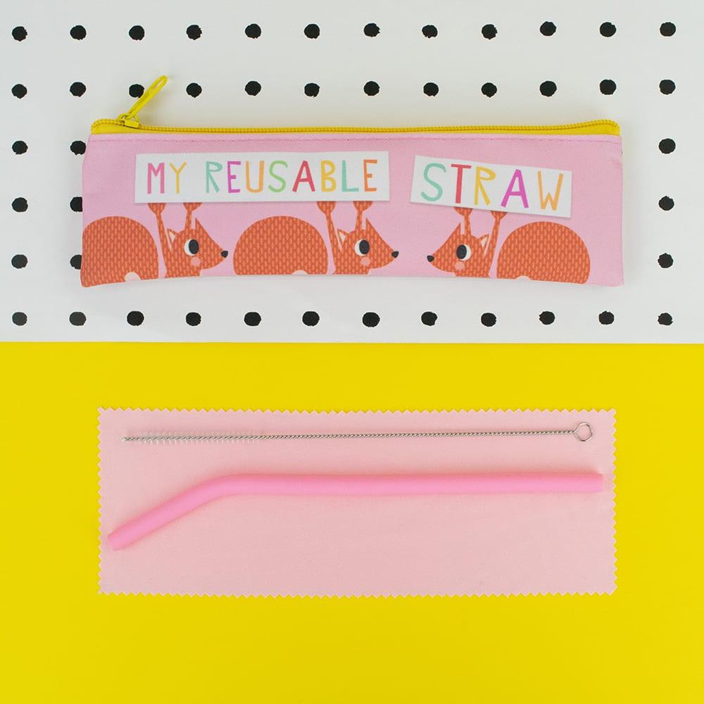 'My Reusable Straw' Straw Set