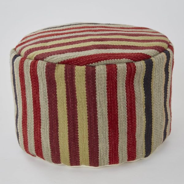 Regimental Stripe Footstool