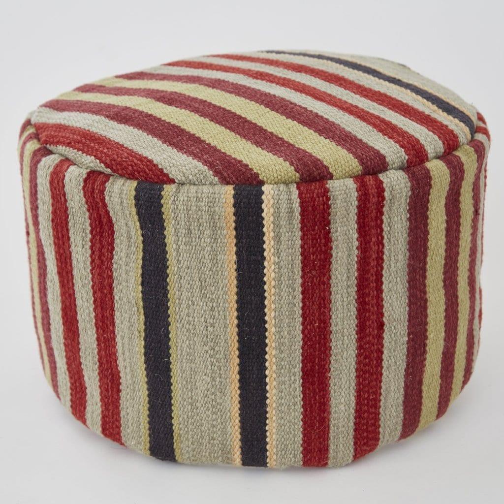 Regimental Stripe Footstool