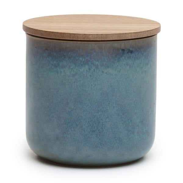 White Tea & Ginger Glazed Blue Ceramic Candle