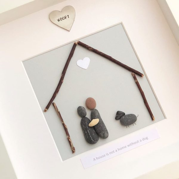 A House Is Not A Home Without A Dog Pebble Picture