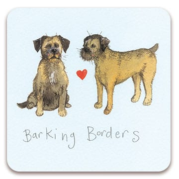 Barking Borders Dog Coaster