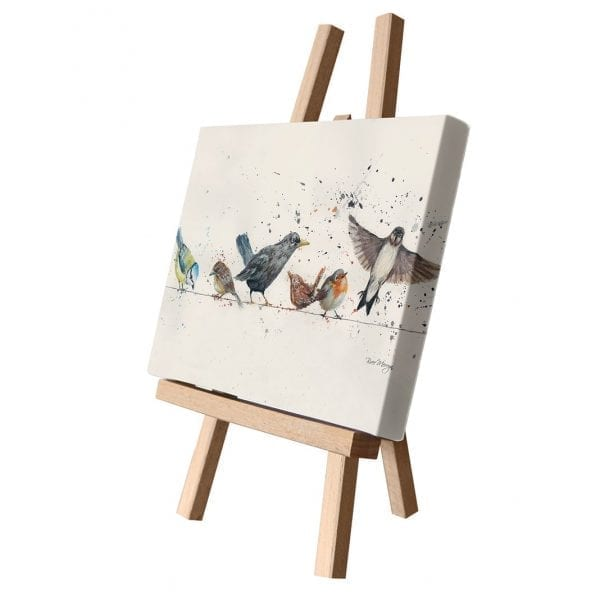 Birds On A Wire Canvas Cutie