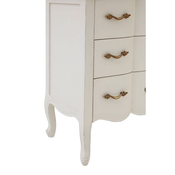 Bourges 3 Drawer White Chest