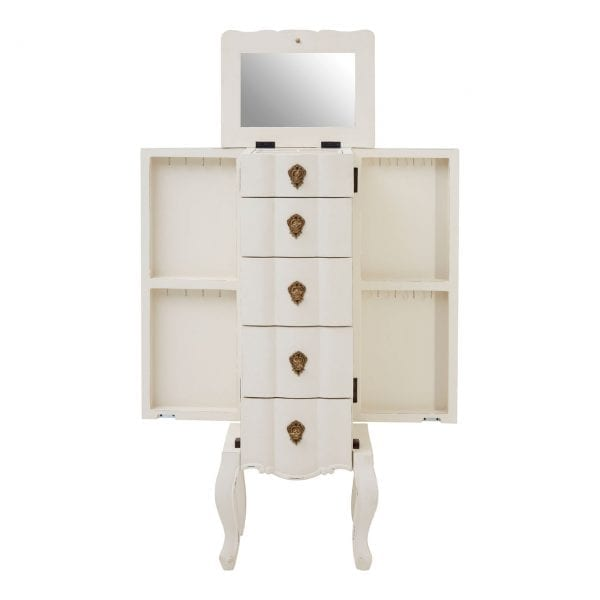 Bourges 5 Drawer Small White Chest