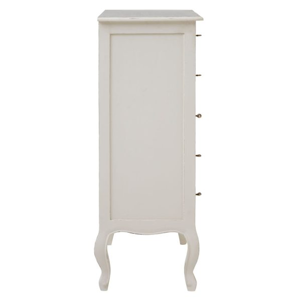 Bourges 5 Drawer White Chest
