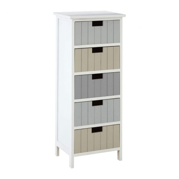 Cambridge Coloured 5 Drawer Chest
