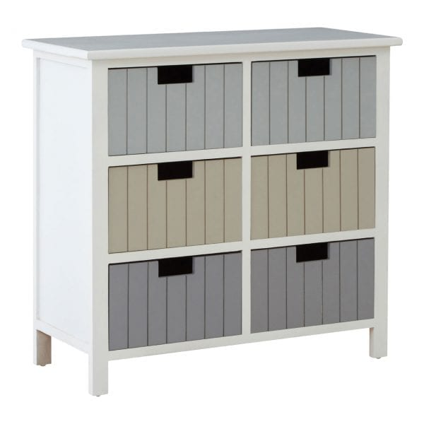 Cambridge Coloured 6 Drawer Chest