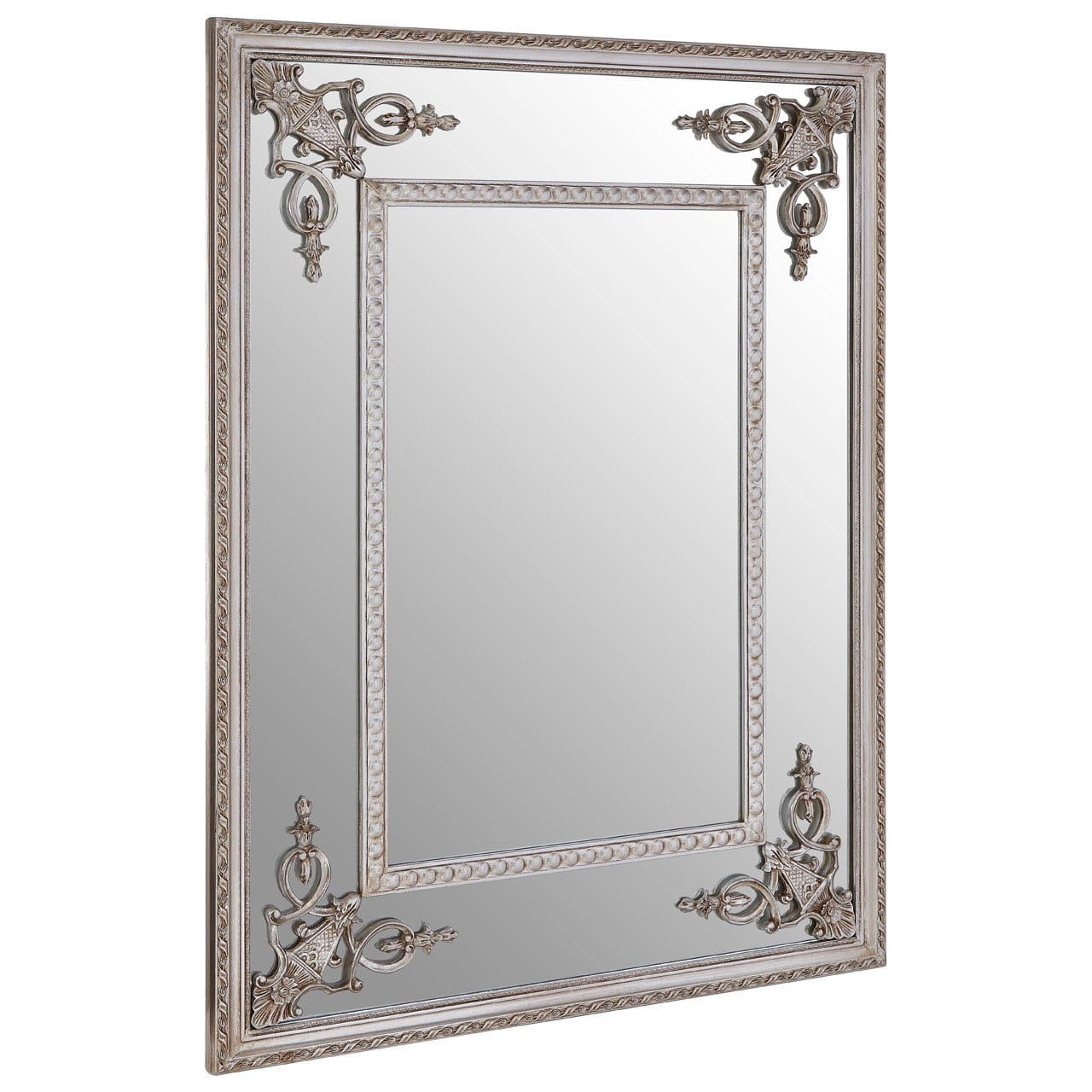 Cannes Champagne Bead Frame Wall Mirror
