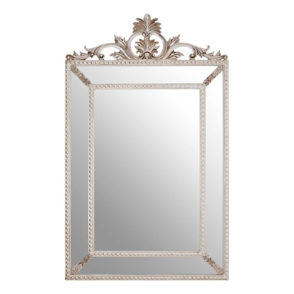 Cannes Champagne Leaf Corner Wall Mirror
