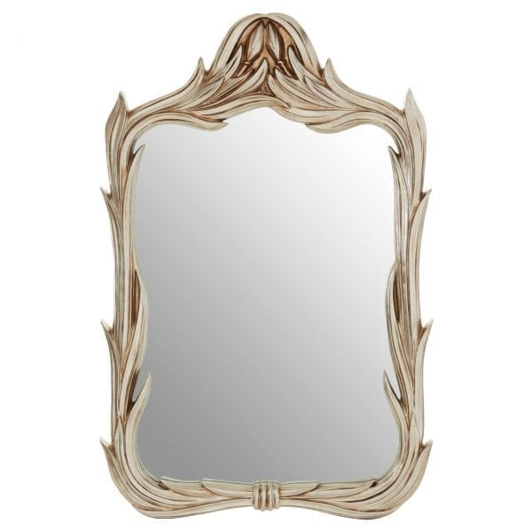 Cannes Champagne Leaf Wreath Wall Mirror