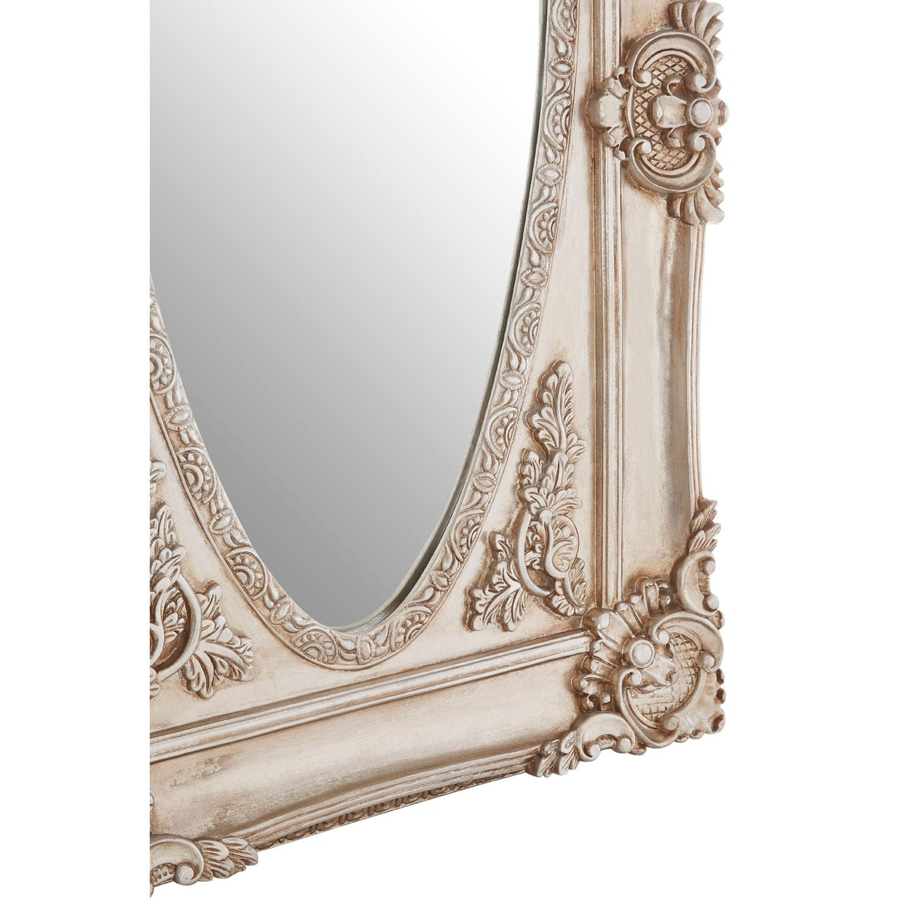 Cannes Champagne Oval Border Wall Mirror