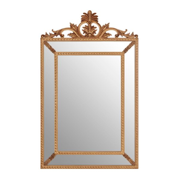 Cannes Gold Leaf Corner Wall Mirror