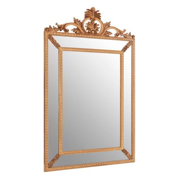 Cannes Gold Leaf Corner Wall Mirror