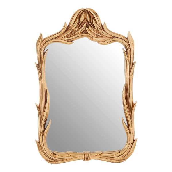 Cannes Gold Leaf Wreath Wall Mirror