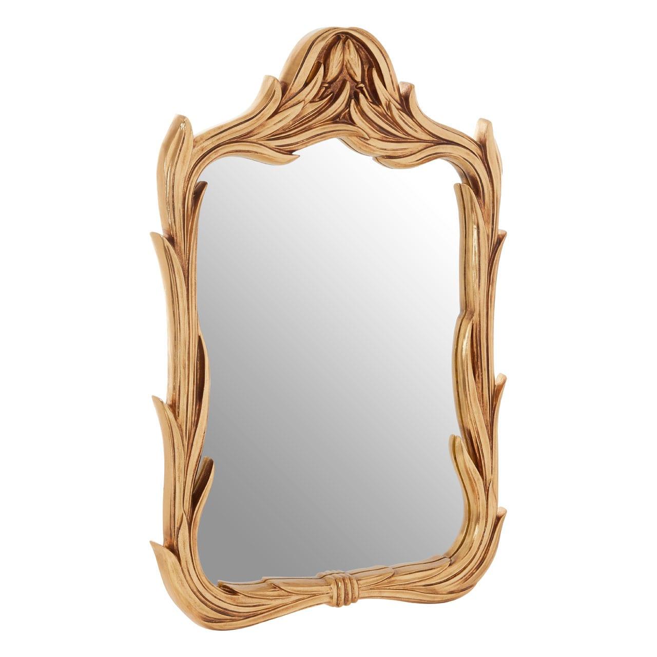 Cannes Gold Leaf Wreath Wall Mirror