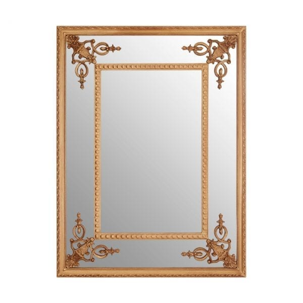 Cannes Gold Motifs Frame Wall Mirror