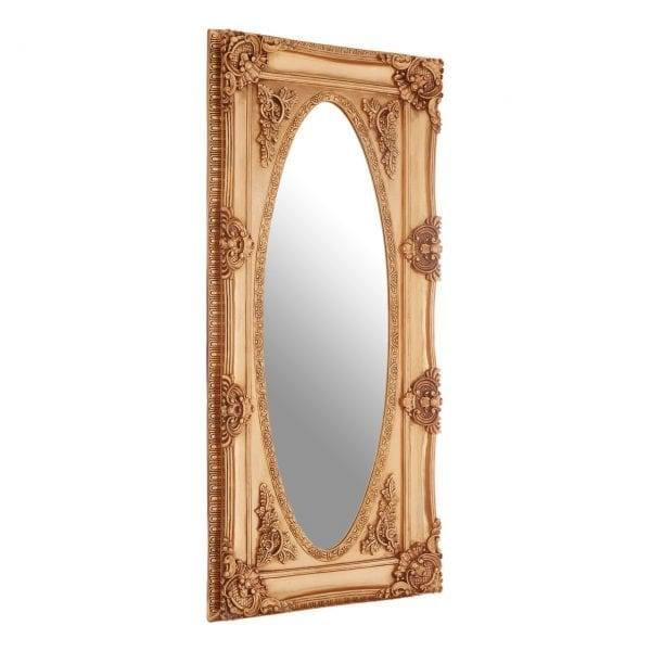 Cannes Gold Oval Border Wall Mirror