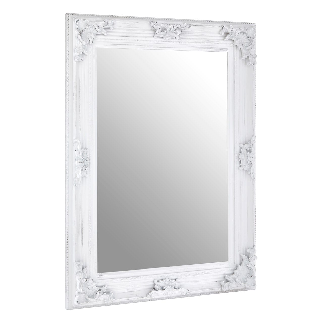 Cantata Antique White Wall Mirror