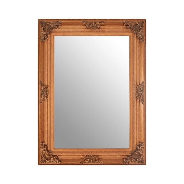 Cantata Rectangle Gold Wall Mirror