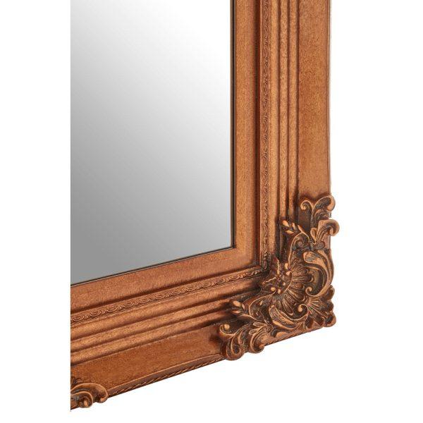 Cantata Rectangle Gold Wall Mirror