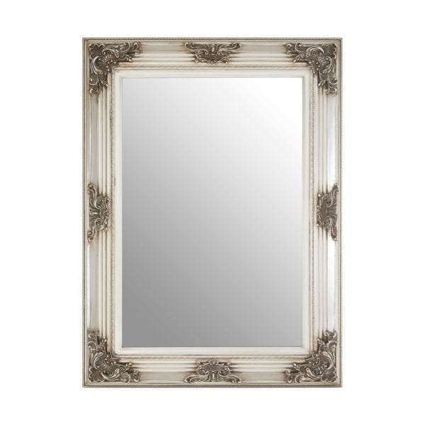 Cantata Rectangle Silver Wall Mirror