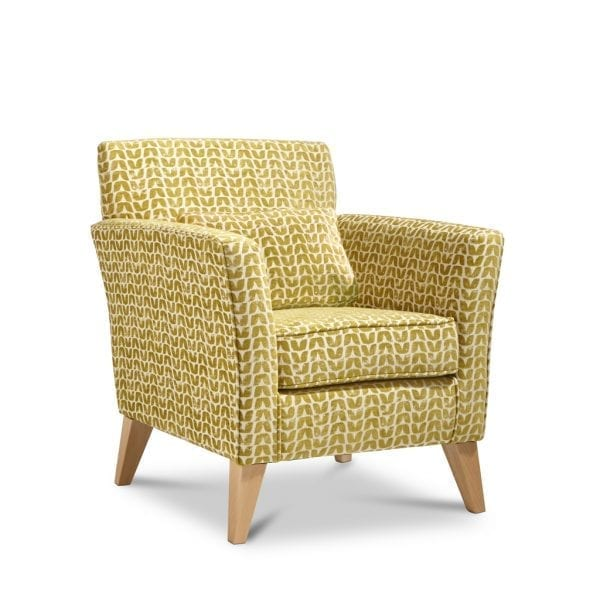 Cleo Isla Ochre Accent Chair