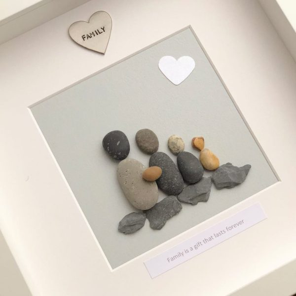 Family Is A Gift That Lasts Forever Pebble Picture