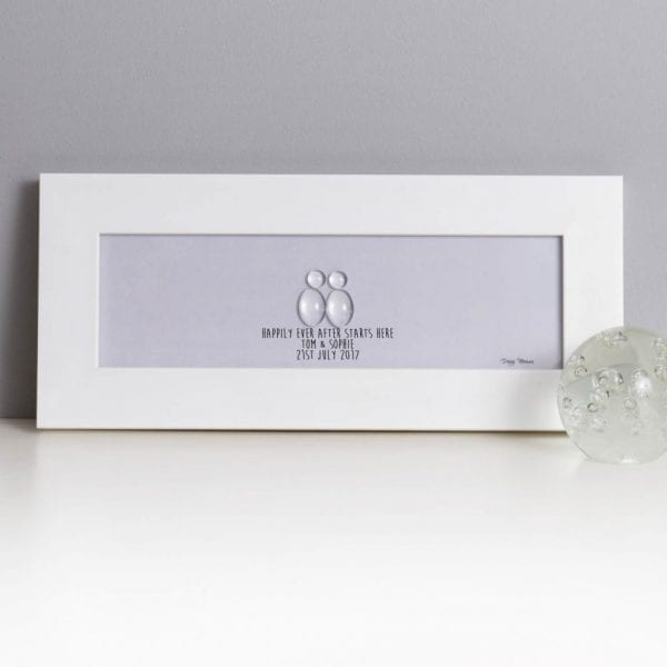 Happily Ever After Starts Here Glass Pebble Picture