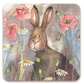Hare & Poppies Coaster