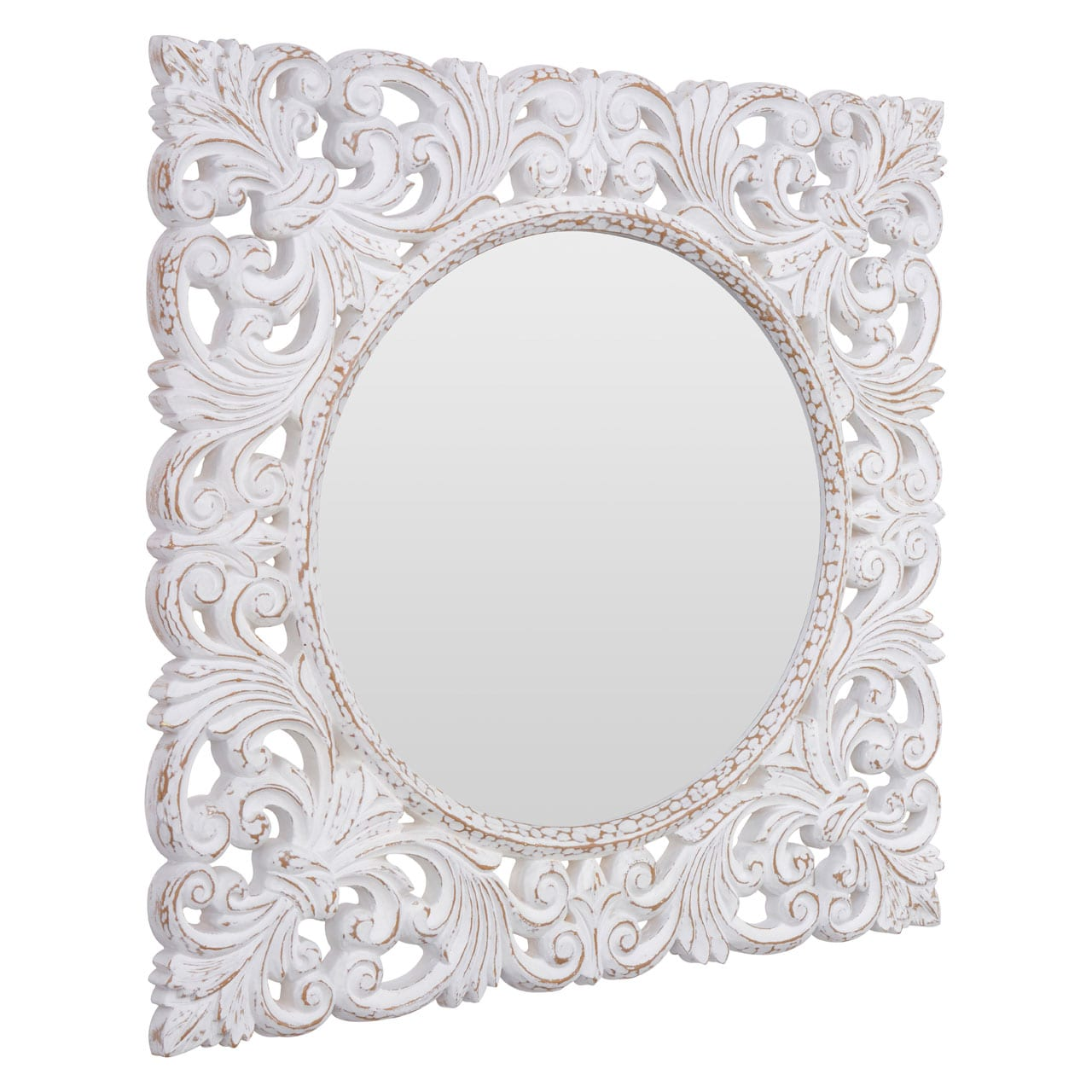 Hartman Antique White Wall Mirror