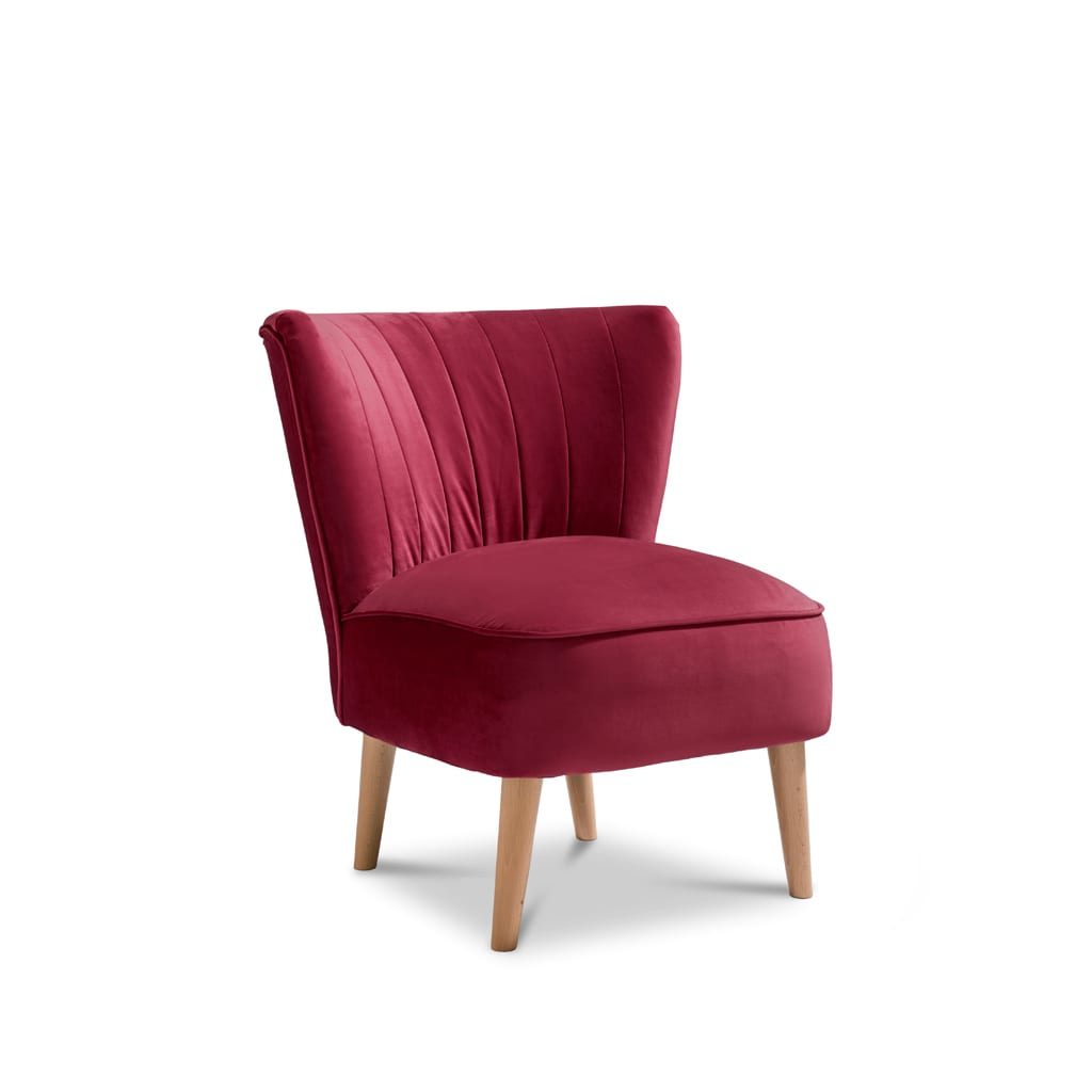 Iris Plush Claret Accent Chair