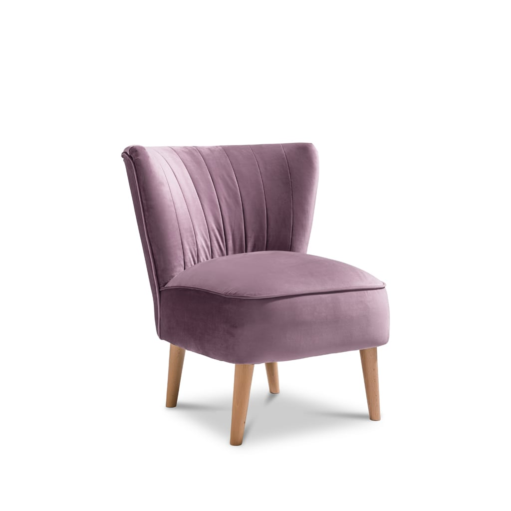 Iris Plush Lilac Accent Chair