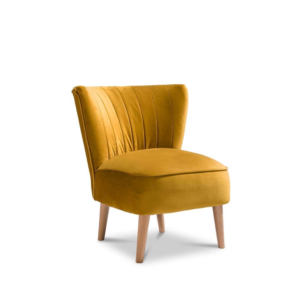 Iris Plush Mustard Accent Chair