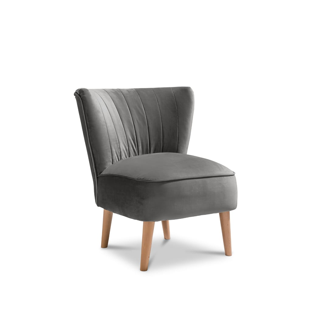 Iris Plush Steel Accent Chair