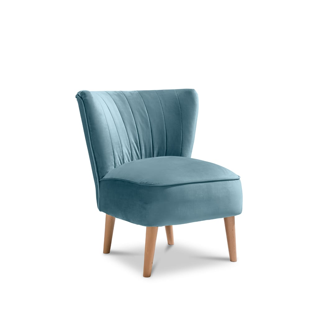 Iris Plush Teal Accent Chair