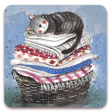 Laundry Basket Cat Coaster
