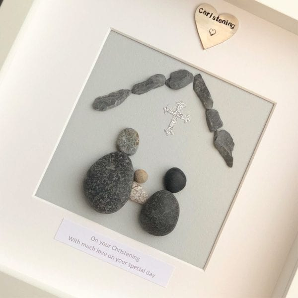 On Your Christening Pebble Picture