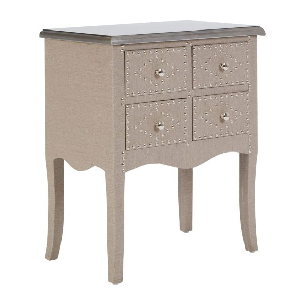 Portland Pine 4 Drawer Console Table