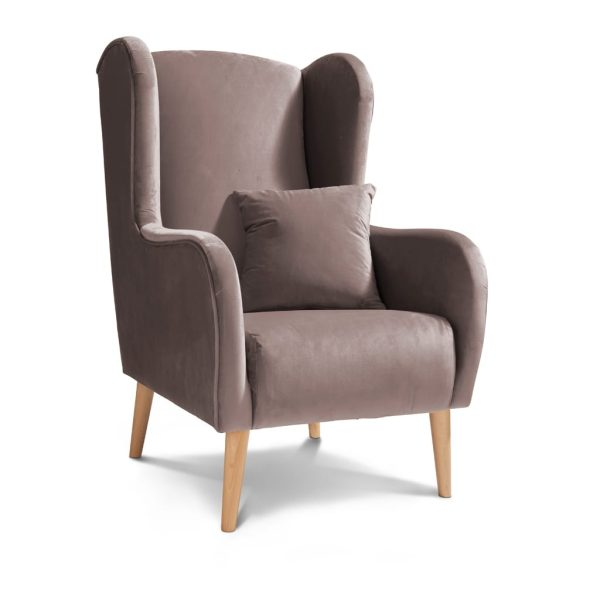 Sheena Plush Lilac Accent Chair