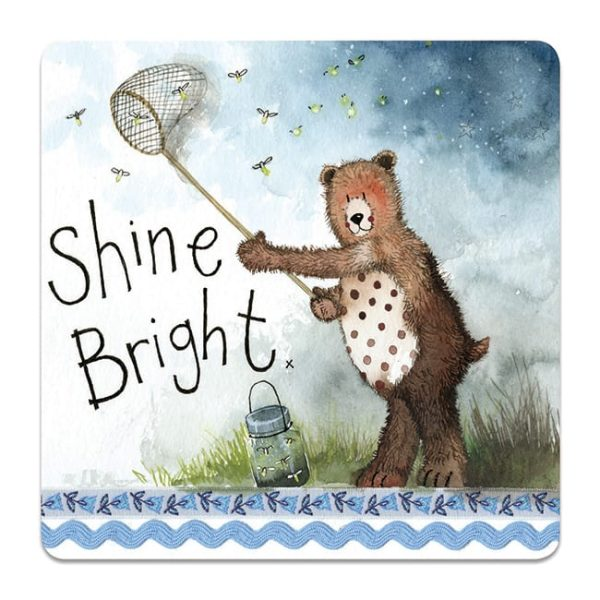 Shine Bright Bear Coaster
