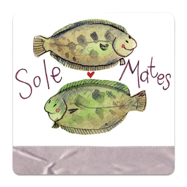 Sole Mates Fish Coaster
