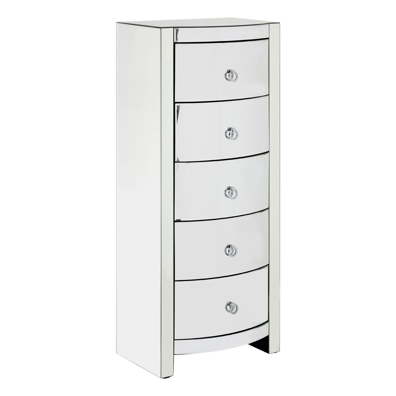 Veneto Curved Tall Boy Drawers