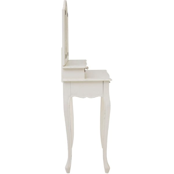 Excellent Bourges White Dressing Table With Mirror Ncnpc Chair Design For Home Ncnpcorg