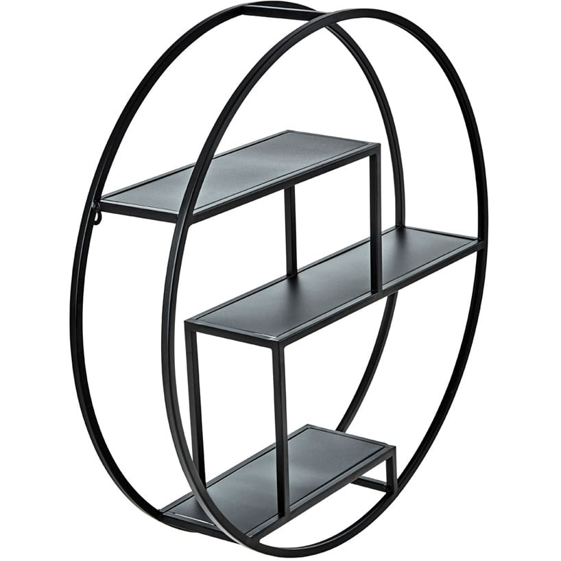 Camberwell 3 Tier Round Metal Shelf