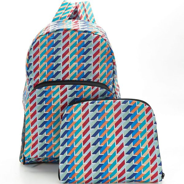 Colour Geometric Foldable Backpack