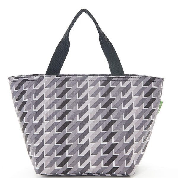 Grey Geometric Lunch Bag